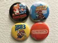 Super Mario Bros. (1-3) REFRIGERATOR MAGNETS Nintendo BRAND NEW Game Room Retro