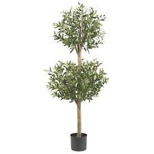 Nearly Natural 5309 - 4.5' Olive Double Topiary Silk Tree - Green