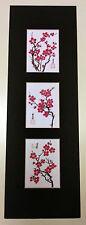 5.5x17 cherry blossom plum flowers Asian Art 2  - Chinese Brush Painting
