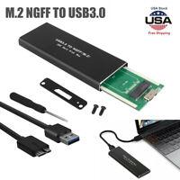 USB3.0 to NGFF M.2 SSD External SSD Converter Adapter Enclosure Case Box Black
