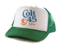 Colt 45 malt liquor beer Trucker Hat mesh hat snapback hat green