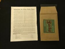 1926 Darko Sears post card Photographic Paper empty package and instruct sheet