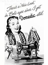 ART PRINT POSTER VINTAGE ADVERT SEWING MACHINE DOMESTICATED NOFL1431