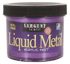Sargent Art Liquid Metal Acrylic Paint - 4 oz - Metallic Violet