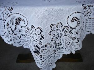 """White Square Lacy Tablecloth 39"""" x 39"""" BRAND NEW."""