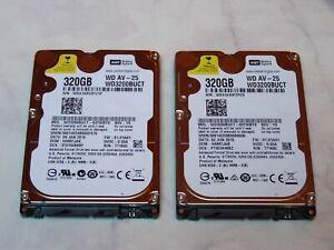 "Lot 2 disques durs internes Western Digital 2,5"" 320 Go SATA - tbe"