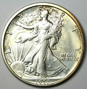 1917-S Walking Liberty Half Dollar 50C Coin Rev MM. Uncirculated Detail (MS UNC)