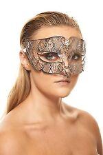 Elegant Silver Venetian Laser Cut Masquerade Mask BD008SL Mardi Gras Prom