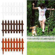 Picket Fence Lawn Garden  Border Edge Edging Plastic Wooden Effect 3 Colours UK