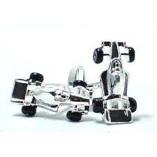F1 Motor Car Racing Cuff Links SILVER-PLATED Cufflinks swivel back +Black Box