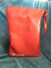 More details for vintage 1970s / 80s inter-city red leather shoulder travel bag
