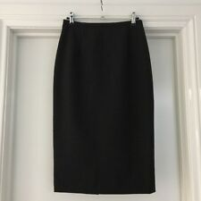 WITCHERY Ladies Size 8 Charcoal Wool Blend Straight Pencil Corporate Skirt EUC