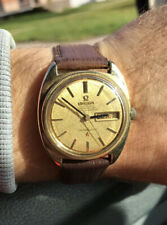 Vintage Constellation Automatic Omega Gold Plated Working Watch Cal. 751