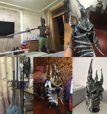 WOW Lich King Prince Arthas Menethil 1:1 Wearable Helmet Polystone Death Knight