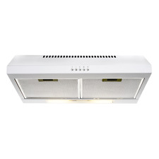 VENINI R60FW 60cm White Extraction Rangehood For Gas & Electric Cooktop Kitchen