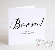 Boom! Congratulations Card - University Degree Driving Test Well Done Exams
