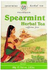 Spearmint Herbal Tea - 40 Tea Bags (1 Box) - Palanquin Brand