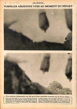 Torpille Aérienne dans les Tranchées sur le Front d'Italie WWI 1917 ILLUSTRATION