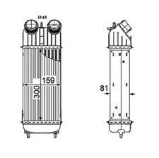 Intercooler, charger NRF 30196