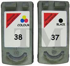 2 regenerados Cartucho de tinta PG-37. Negro  CL38 Color. Canon Pixma MP140