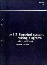 2002 Saab 9 3 Electrical System Shop Manual Wiring Diagram Book 93 Original OEM