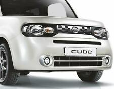 Nissan Cube Z12 Genuine Car Front Foglight Fog Lamp Chrome Rings x2 KE5401F080