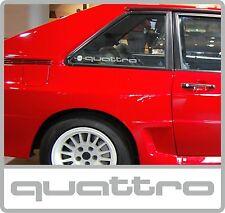 Cuarto Trasero Audi Quattro Esmerilado Ventana calcomanías/Pegatinas