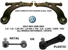 Para VW Golf MK4 BRAZO DE SUSPENSIÓN INFERIOR RÓTULA MEYLE Alemania Antiroll Bar Enlaces