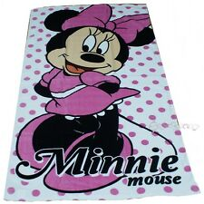 Officiel disney minnie mouse à pois coton plage serviette de bain