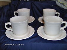 PFALTZGRAFF  WHITE 4 CUPS & 4 SAUCERS (GAZEBO) GOOD COND.NO CHIP/CRK