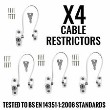 4 x White Window Door Cable Restrictor Ventilator Child Safety Security Lock