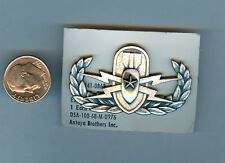 Early Us Army Eod Supervisor Badge . On Maker's Card . Oxidized Silver