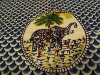coton bleuté 1mx ,0m,50 les éléphants==== neuf =patchork etc...loisirs créatifs