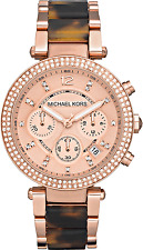 USED MICHAEL KORS MK5538 LADIES ROSE GOLD PARKER WATCH