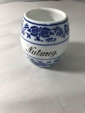 GMT G.M.T. and Bro. Bros Brothers Germany Nutmeg Blue Onion Jar 3986