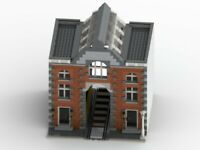 LEGO Train Station Modular Building Custom MOC INSTRUCTIONS ONLY