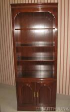 Ethan Allen Kling Cherry Lighted China Cabinet Bookcase Wall Unit  9119