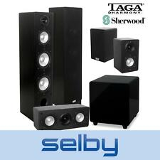 5.1 Home Theatre Speaker System TAGA 406 Speakers & Sherwood SUB8 Subwoofer