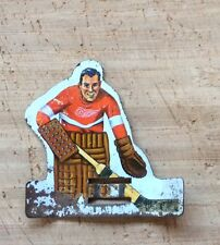 Vintage  Coleco Metal Table Hockey Player-1960's-Detroit Red Wings