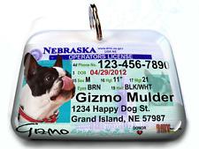 Nebraska vanity drivers license dog cat custom tag for pets by ID4PET
