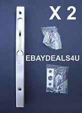 Flush Bolt Stainless Steel x2 french bifold door 200mm dead lock lever action F3
