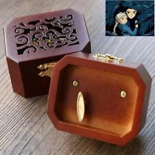 COLLECTIBLE  OCTAGON CARVING MUSIC BOX ♫ HOWLS MOVING CASTLE  ♫