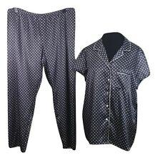 PER UNA Pyjamas Size 20 Dark Blue White Polkadots *NEW w/ TAGS* Trousers & Top