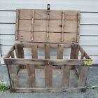 Antique Vintage Primitive Slatted Wood Berry Crate Box Rustic Farm Country Decor