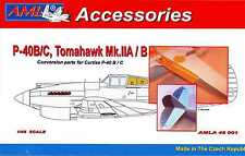 AML Models 1/48 CURTISS P-40B/C & TOMAHAWK CONTROL SURFACES Resin & PE Conv Kit