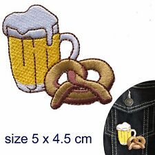Beer Pretzel Iron on patch Cheers Octoberfest Oktoberfest German iron-on patches