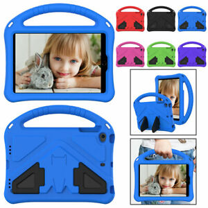 Case For iPad Mini 12345 Air 2 Pro 9.7 11 Tablet Kids EVA Shockproof Stand Cover