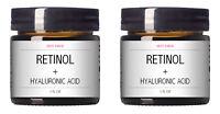Retinol + Hyaluronic Acid Vitamin A C E Anti-Aging Wrinkle GEL-CREAM Serum 2 PC