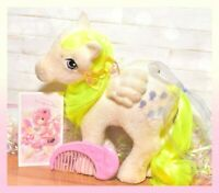 ❤️My Little Pony MLP G1 Vtg So Soft Ponies Flocked SURPRISE Moon COMB Pegasus❤️