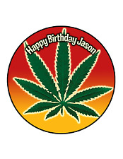 WEED Edible Cake Image Personalised Birthday Decoration Party Topper